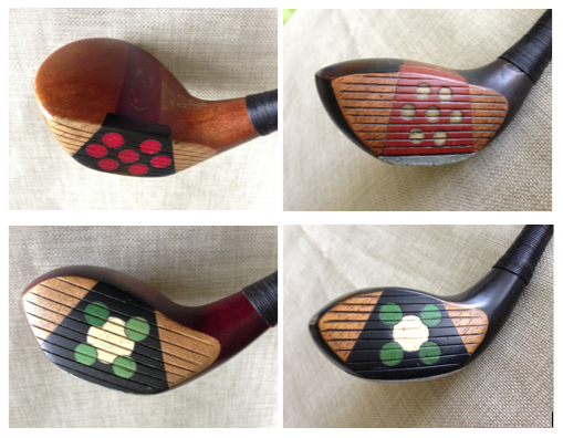 A selection of retro-fitted woods ready for play